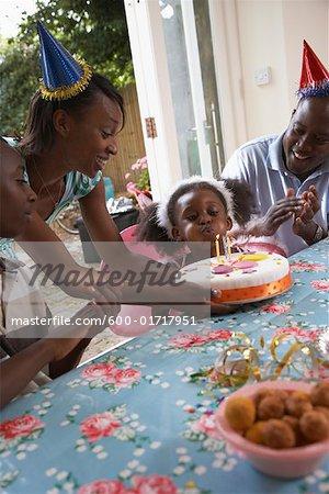 Family at Girl's Birthday