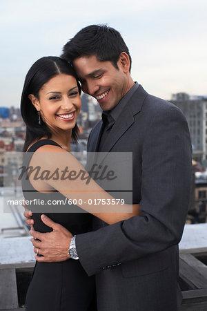 Couple on Balcony, Soho, New York City, New York, USA