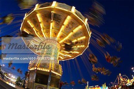 Swing Ride at Night, Toronto, Ontario, Canada