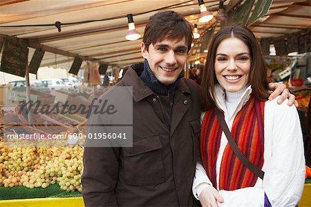 Couple at Market, Paris, France