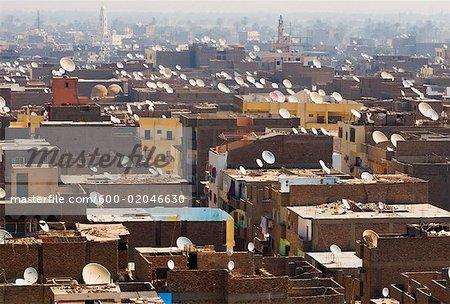 City Rooftops, Luxor, Egypt