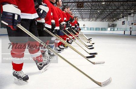 Hockey Team During National Anthem