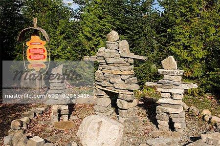 Stone Figures, Wendake, Quebec, Canada
