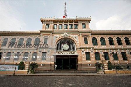 Exterior of Central Post Office, Ho Chi Minh City, Vietnam