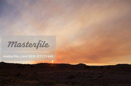 Arizona Desert at Sunset, Arizona, USA
