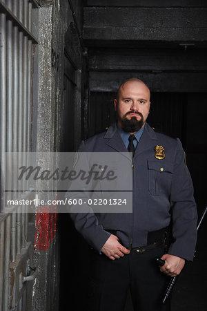 Portrait of Prison Guard