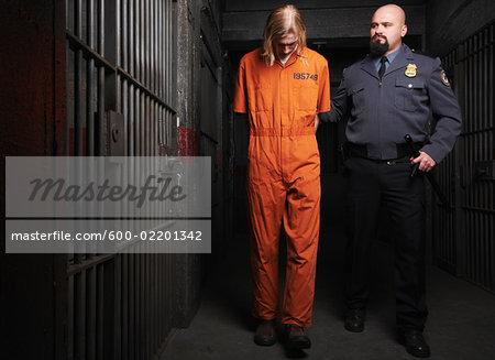 Guard Walking with Prisoner