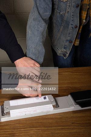 Police Taking Fingerprints
