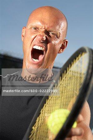 Tennis Player Yelling
