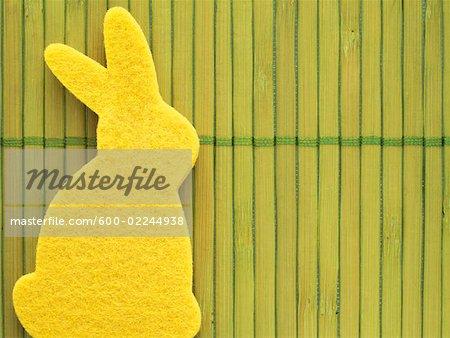 Yellow Easter Bunny Sponge