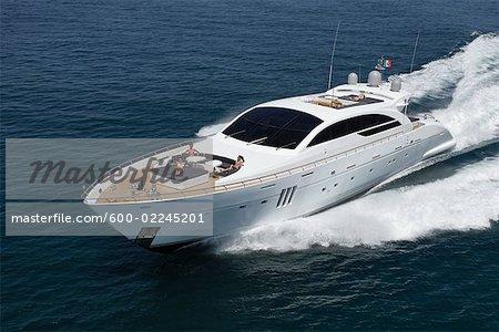 Luxury Yacht on the Tirrenian Sea, Tuscany, Italy