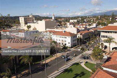 Overview of City, Santa Barbara, California, USA