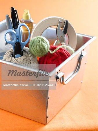 Box of Arts & Crafts Supplies