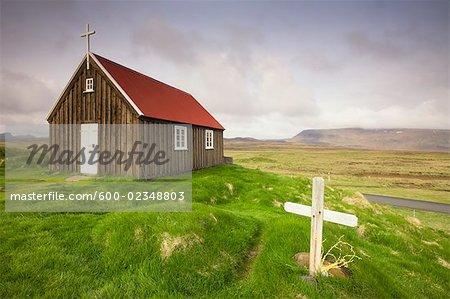 Church in Krysuvik, Reykjanes Peninsula,Iceland