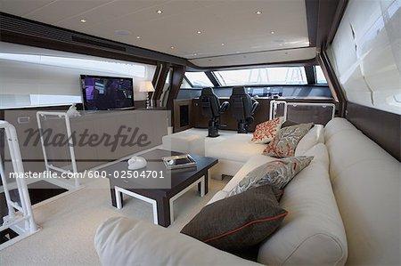 Interior of Dinette in Tecnomar Velvet 90 Luxury Yacht