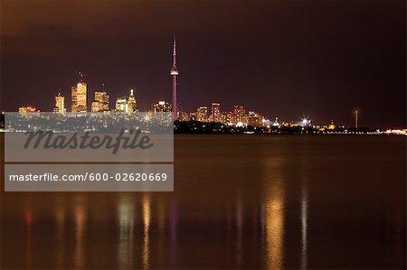 Toronto Skyline at Night, Ontario, Canada