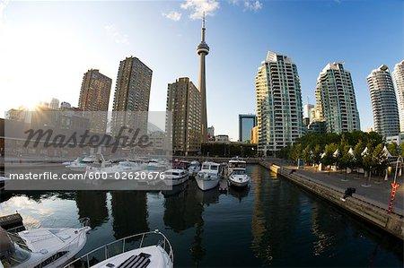 Toronto Harbourfront at Dusk, Ontario, Canada