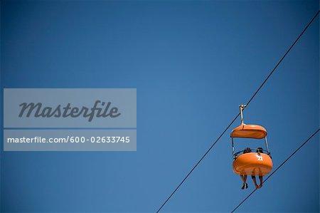 Sky Glider Ride at Santa Cruz Beach Boardwalk, Santa Cruz, California, USA