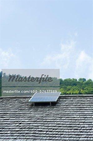 Solar Panel on Roof, Salzburger Land, Austria