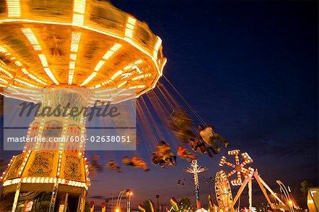 Amusement Park Ride, Toronto, Ontario, Canada