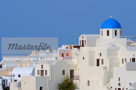 Church, Oia, Santorini, Cyclades Islands, Greece