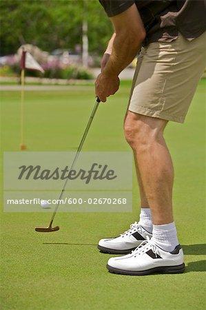 Man Golfing, Burlington, Ontario, Canada