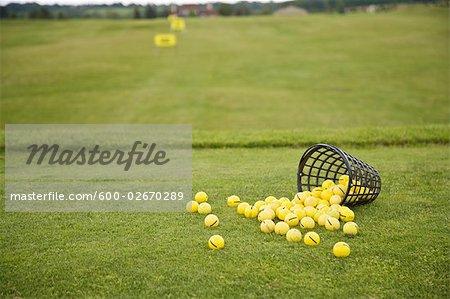 Bucket of Balls on the Driving Range, Burlington, Ontario, Canada