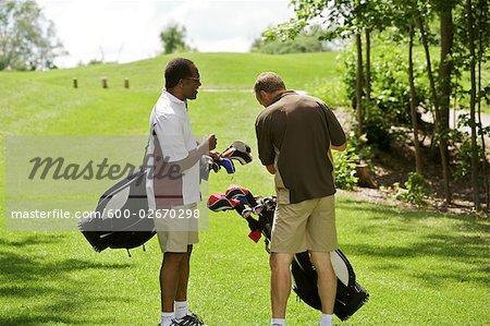 Men Walking on the Golf Course, Burlington, Ontario, Canada