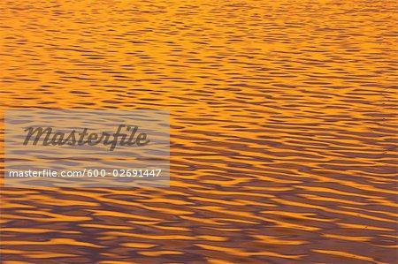 Sunlight Reflecting on Water, Ushuaia, Argentina