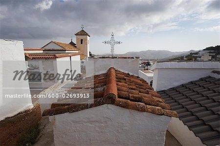 Graveyard, Ermita de la Santa Cruz, Mountains of The Contraviesa, Murtas, Granada, Andalucia, Southern Spain