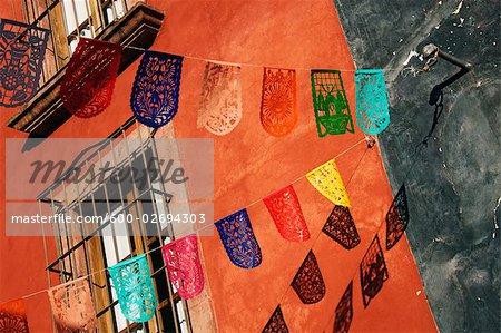 Papel Picado Decorations, San Miguel de Allende, Guanajuato, Mexico