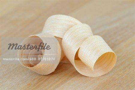 Close-up of Wood Shaving
