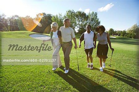 People on Golf Course, Burlington, Ontario, Canada