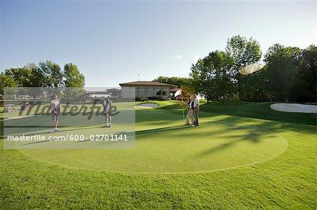 People Playing Golf, Burlington, Ontario, Canada