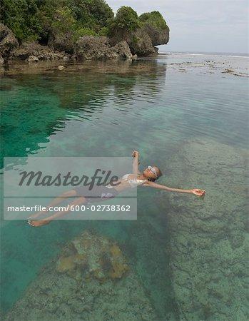 Magpupungko Lagoon, Pilar, Siargao Island, Surigao del Norte, Mindanao, Philippines