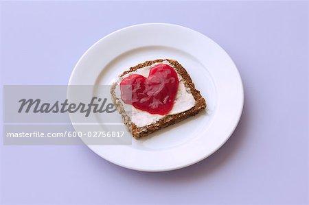 Still Life of Bread with Jam