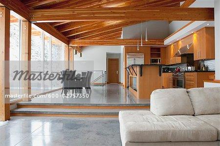 Interior of Large Alpine Home
