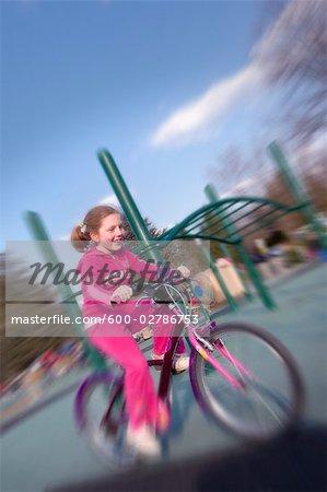 Girl Riding Bike, Bethesda, Maryland, USA