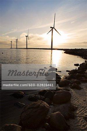 Wind Turbines, Ebeltoft, Syddjurs Municipality, Region Midtjylland, Jutland, Denmark