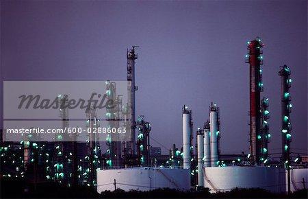 Oil Refinery, Sunset