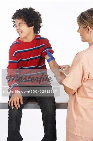 Boy Getting a Needle