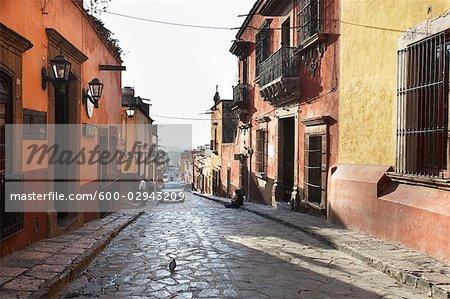 Cobblestone Streets of San Miguel de Allende, Guanajuato, Mexico