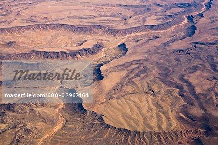 Aerial View of Desert Outside of Las Vegas, Nevada, USA