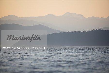 Lake and Mountains at Dusk