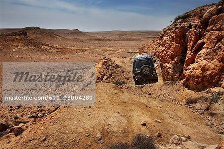 SUV in the Negev Desert, Israel