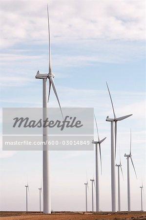 Wind Farm, Monegros Desert, Aragon, Spain