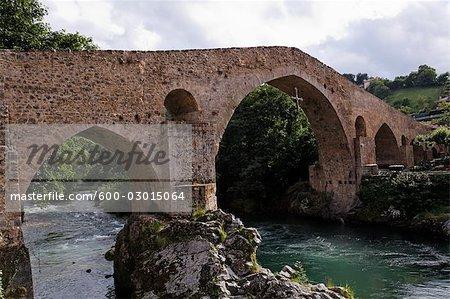 Roman Bridge over Sella River, Cangas de Onis, Asturias, Spain