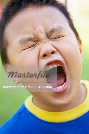 little boy screaming stock photo masterfile premium royalty
