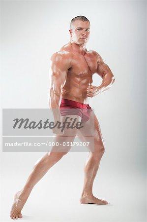 Portrait of Body Builder