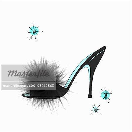 Illustration of Vintage Slipper